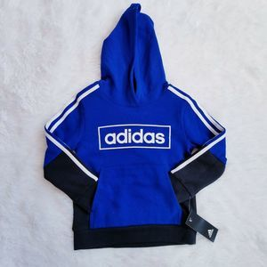 Adidas Boys Colorblocked Fleece Hoodie Sweatshirt